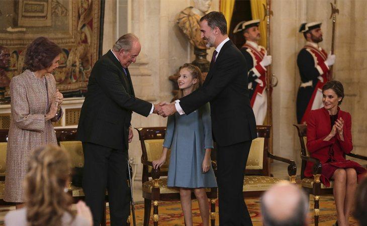 El rey don Juan Carlos quedó muy dolido después de que su nieta, la princesa Leonor, no lo nombrara durante su primer discurso en los Premios Princesa de Asturias
