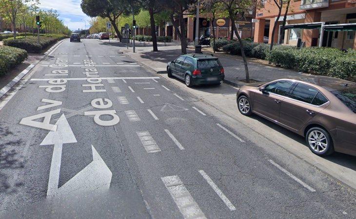 El carril de la derecha se utiliza actualmente únicamente para el tránsito de bicicletas