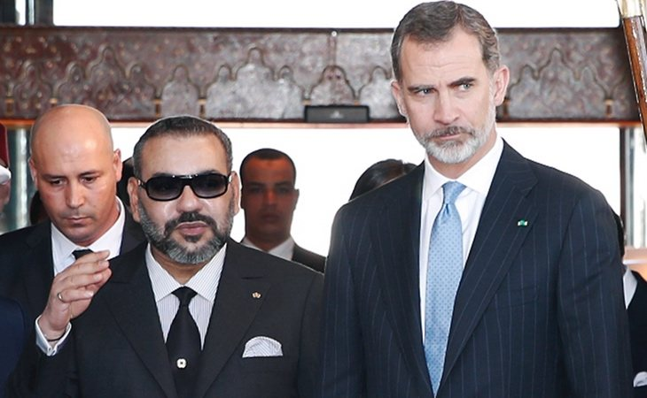 Mohamed VI junto a Felipe VI