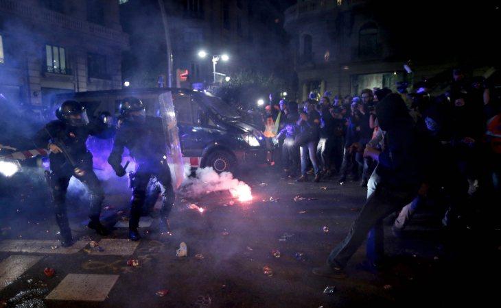 Disturbios sufridos en Barcelona