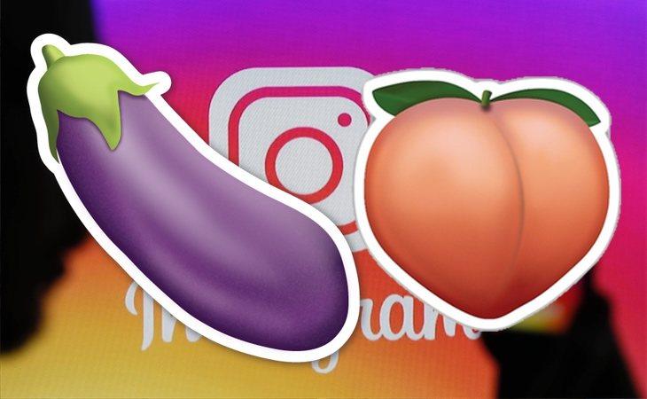 Berenjenas y melocotones, vetados en Instagram