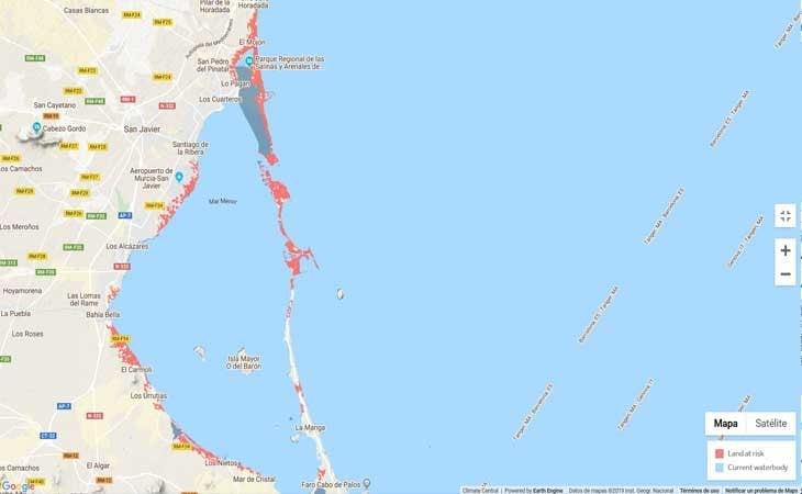 El Mar Menor y zonas aledañas