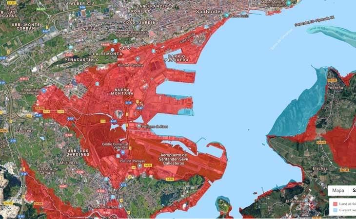 Decenas de nucleos urbanos anegados por el agua