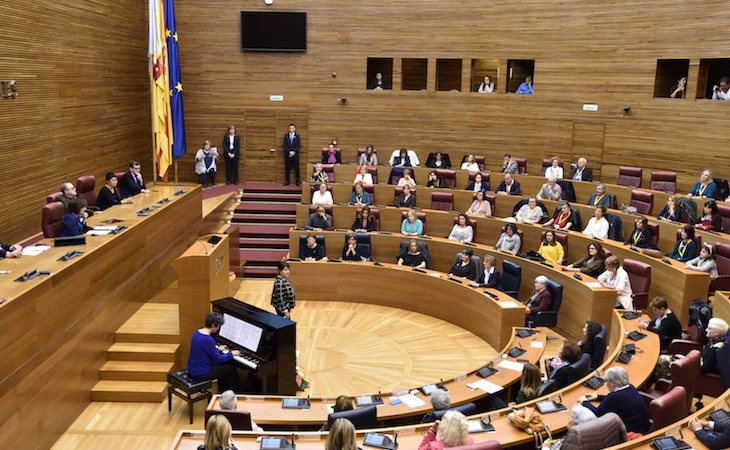 PSPV, Podemos y Compromís han presentado esta nueva propuesta | Fuente: Corts Valencianes