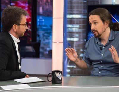 Indignación por la pregunta de Pablo Motos a Pablo Iglesias en 'El hormiguero' para defender a Amancio Ortega