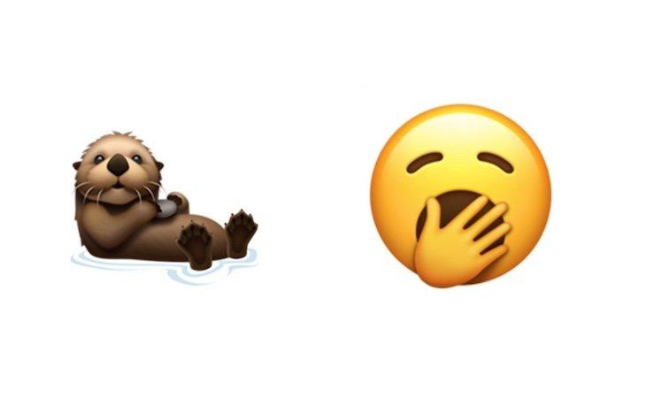 El emoji del bostezo o de la nutria han sido de los más aclamados | Fuente: Twitter: @Emojipedia
