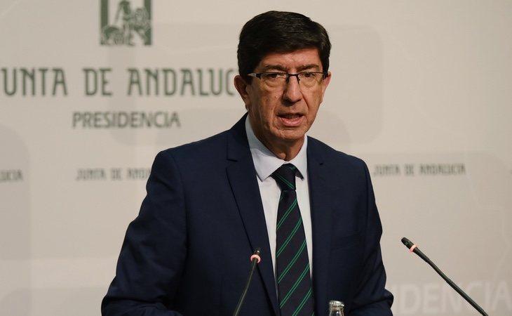 El líder de Ciudadanos en Andalucía y vicepresidente, Juan Marín, quedaría al borde de la representación