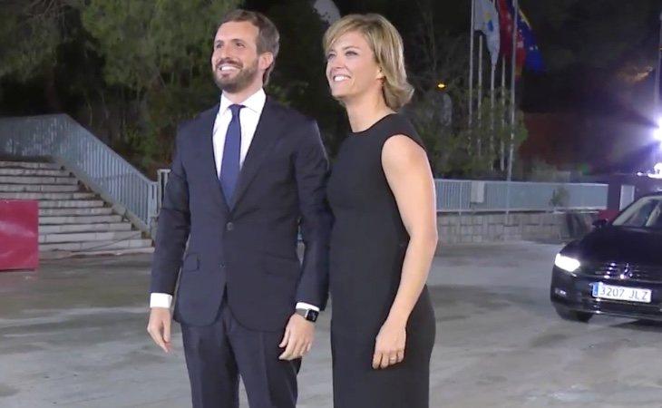 El líder del PP, Pablo Casado, ha llegado al Pabellón de Cristal donde se celebra el debate