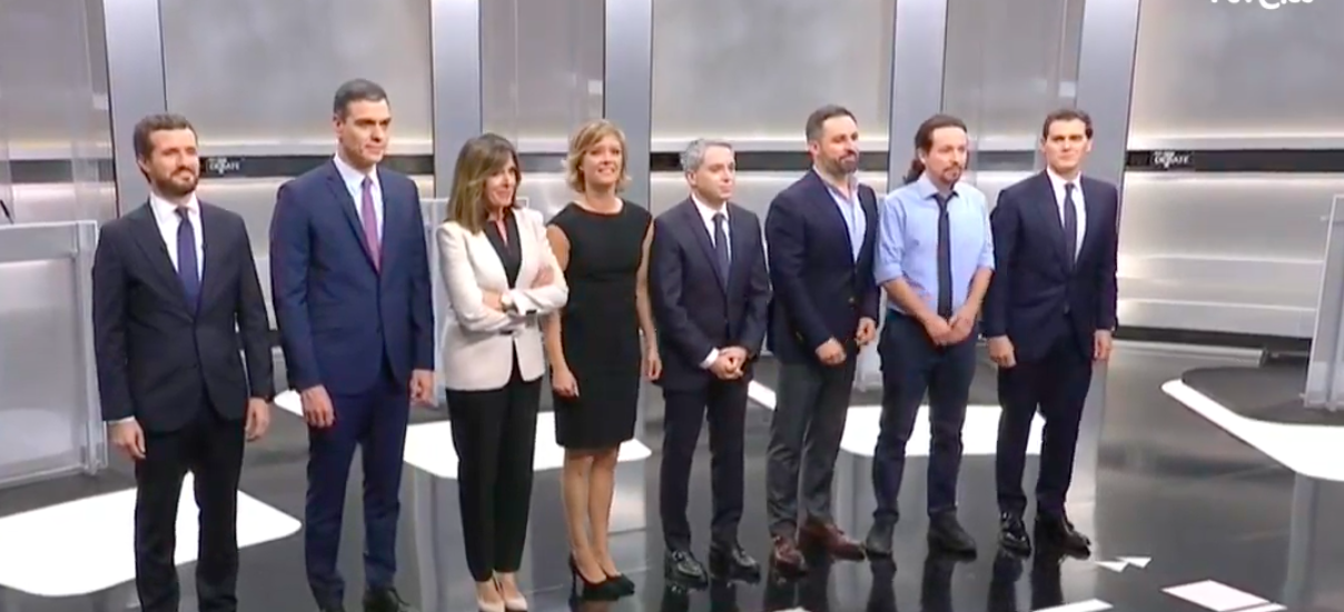 El debate tiene cinco bloques: cohesión de España, política económica, política social e igualdad, calidad democrática y política internacional
