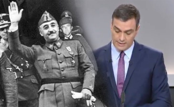 Sánchez anuncia que castigará la apología del franquismo e ilegalizará la Fundación Nacional Francisco Franco