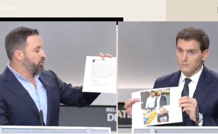 Rifirrafe entre Rivera y Abascal por el socio de VOX en Italia, Matteo Salvini, que apoya al independentismo catalán