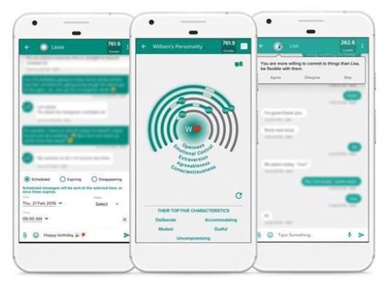 Mei, la app que analiza si la persona que te escribe en WhatsApp se ha enamorado de ti