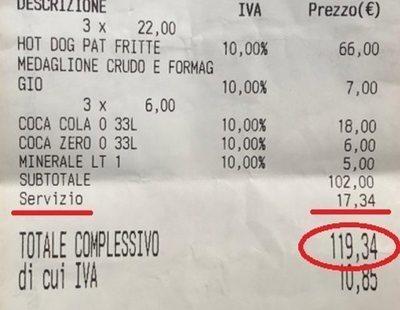 Nuevo sablazo a turistas en Roma: 120 euros por tres perritos, un sándwich y cuatro bebidas