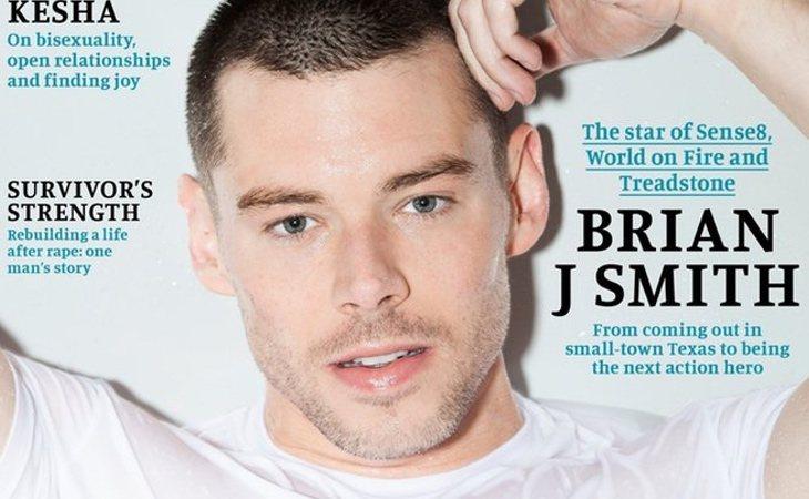 Brian J. Smith en la portada de Attitud