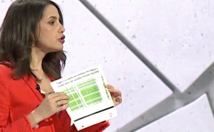 Inés Arrimadas: 'En corrupción se nos van 48 mil millones de euros'