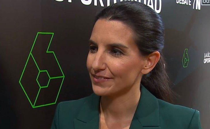 Rocío Monasterio (VOX): 'La prioridad es echar a Pedro Sánchez'