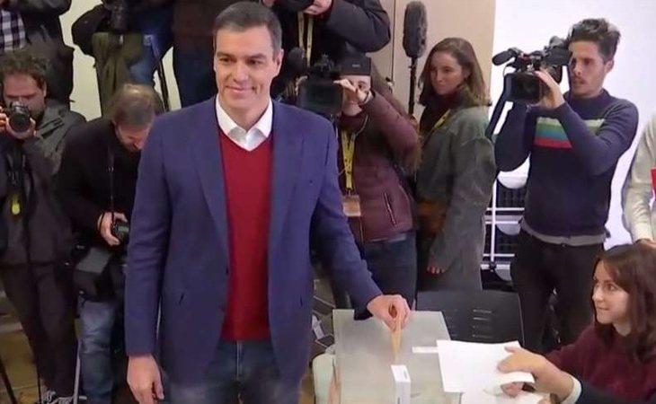 Pedro Sánchez ya ha votado: