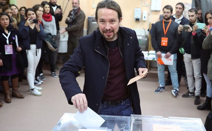 Pablo Iglesias, candidato de Unidas Podemos, ya ha votado: