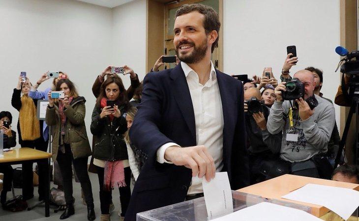 Pablo Casado (PP) ejerce su derecho al voto: