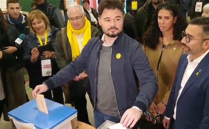 Gabriel Rufián (ERC), claro tras votar: