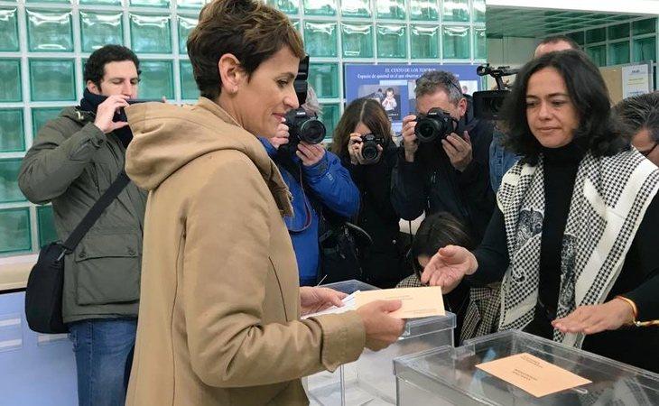 María Chivite, presidenta del Gobierno de Navarra, ha votado: