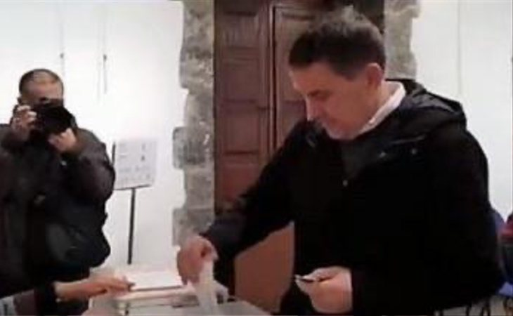 Arnaldo Otegi (EH Bildu) anima a votar para