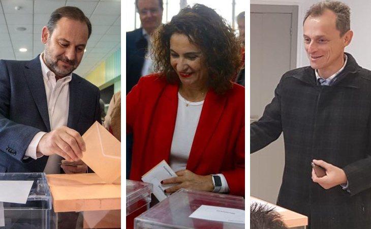 Los ministros José Luis Ábalos, María Jesús Montero y Pedro Duque ya han ejercido su derecho al voto