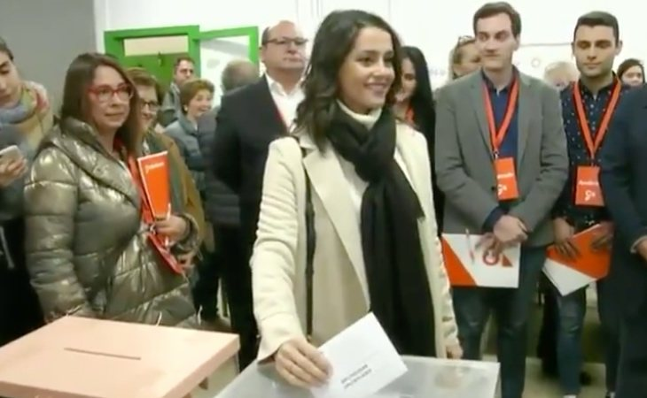 Inés Arrimadas (Cs) ha votado en Barcelona: