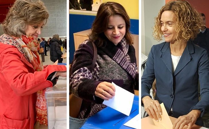 Maria Luisa Carcedo (ministra de Sanidad), Adriana Lastra (portavoz del PSOE en el Congreso) y Meritxell Batet (presidenta del Congreso) ya han votado