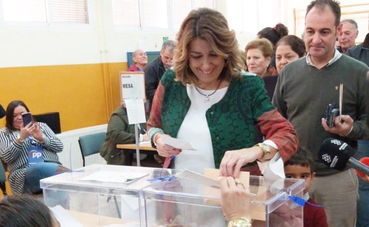 Susana Díaz, convencida del buen resultado que obtendrá el PSOE, llama al voto para