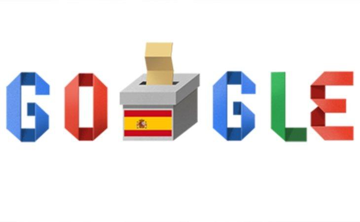 Google dedica su doodle a las elecciones generales de España