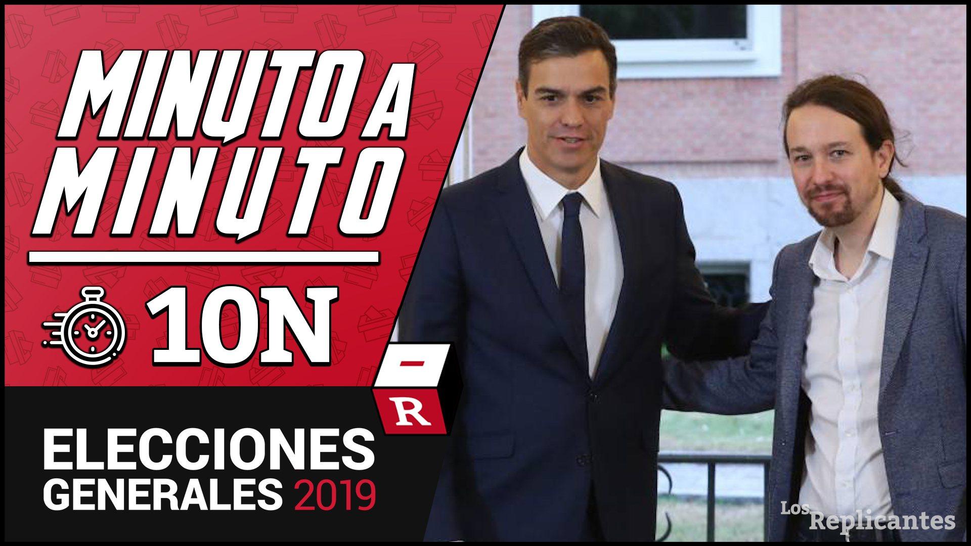 81,75% escrutado: PSOE (122), PP (85), VOX (53), UP (35), ERC (13), Cs (10), JxCAT (8), PNV (7), EH Bildu (5), Más País (3), CCa-NC (2), CUP (2)