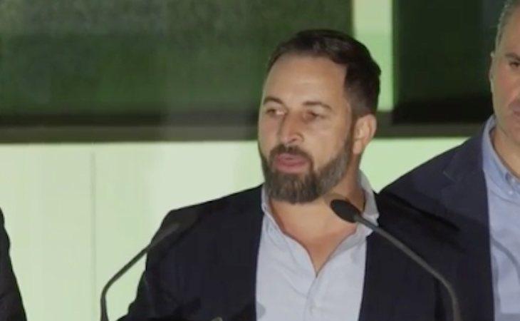 Santiago Abascal celebra los resultados de VOX: