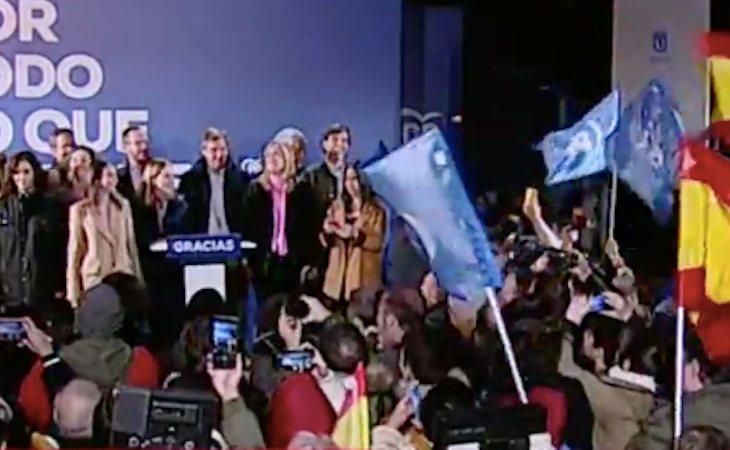 Celebración contenida en Génova, sede del PP