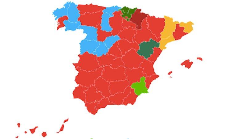 Así queda el mapa tras las elecciones generales