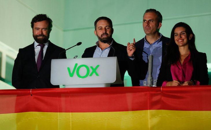 VOX, eufóricos tras los resultados electorales que los convierten en tercera fuerza