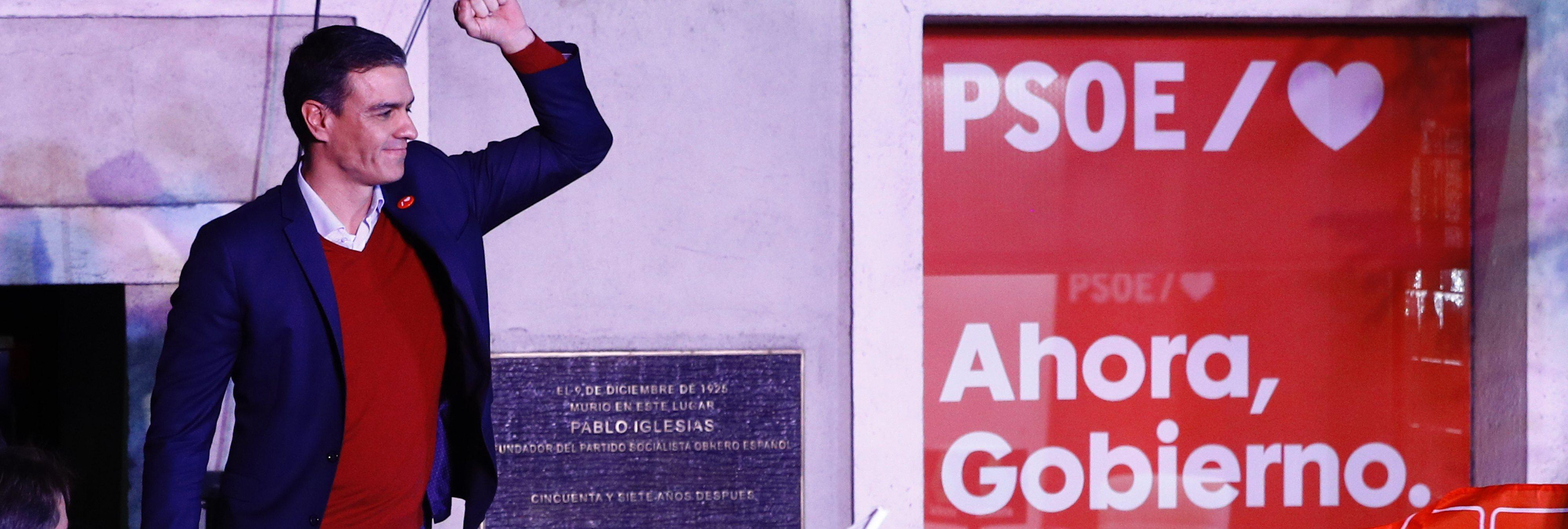 El PSOE de Pedro Sánchez gana las elecciones, VOX tercera fuerza y Cs se hunde