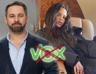 Rosalía carga contra VOX y el partido responde con un lema falangista