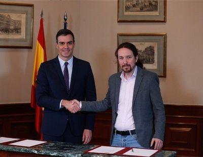 PSOE y Unidas Podemos cierran un acuerdo de Gobierno con Pablo Iglesias como vicepresidente
