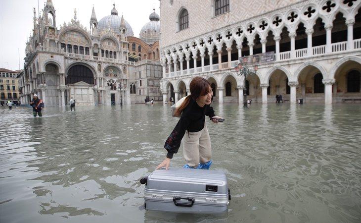 Un 85% de Venecia está cubierta por el agua a causa d ela inundaciones