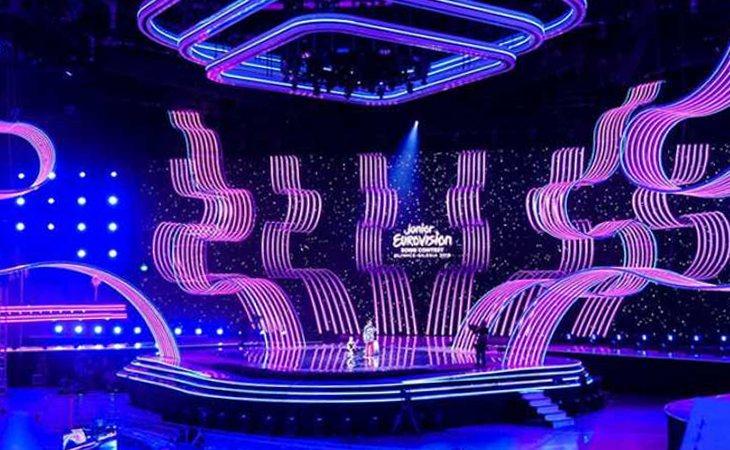 El escenario del Gliwice Arena ya está listo para los ensayos de las 19 delegaciones participantes en Eurovisión Junior 2019