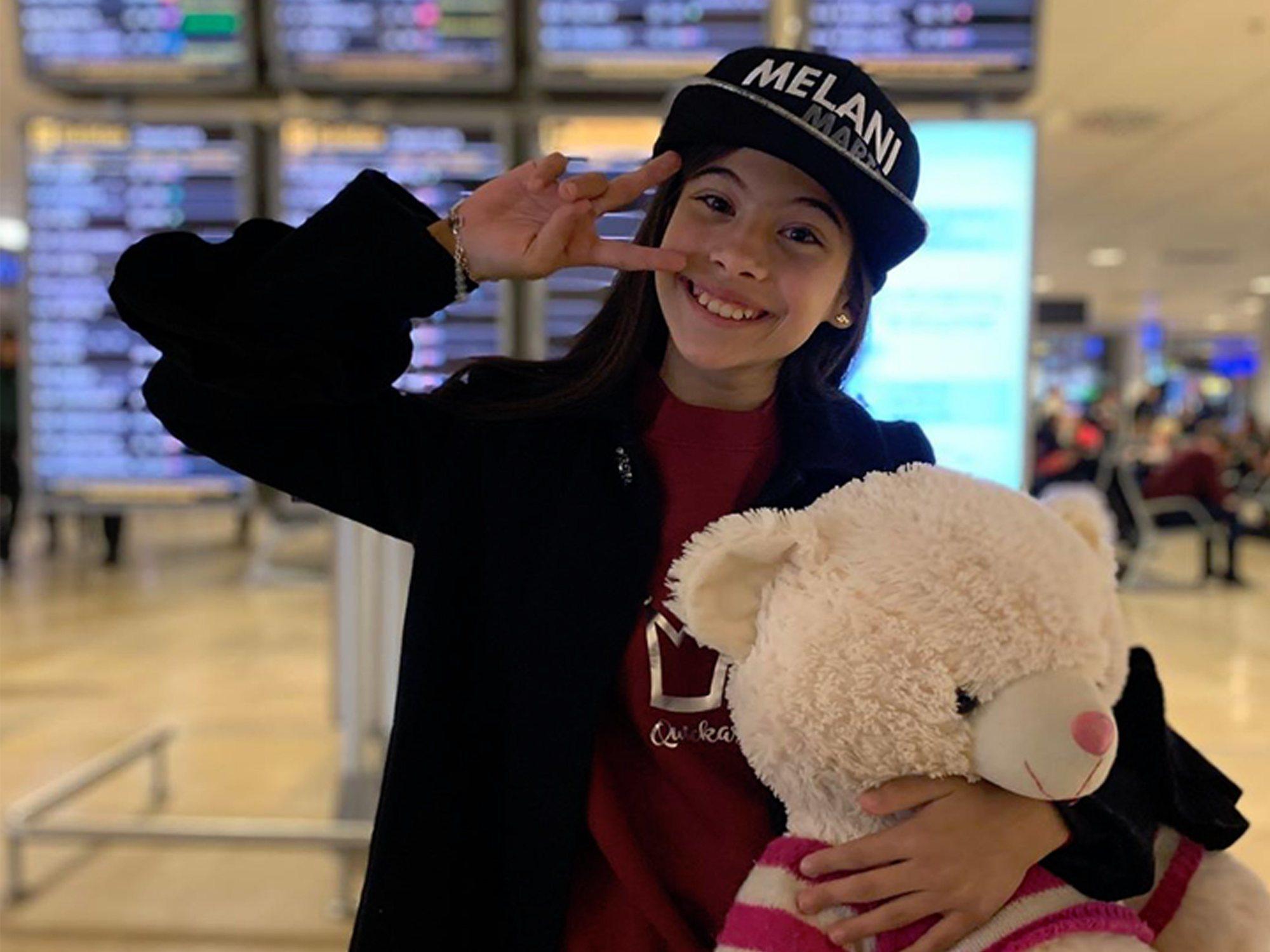 Eurovisión Junior 2019: Melani ya está en Polonia, a punto para la alfombra roja