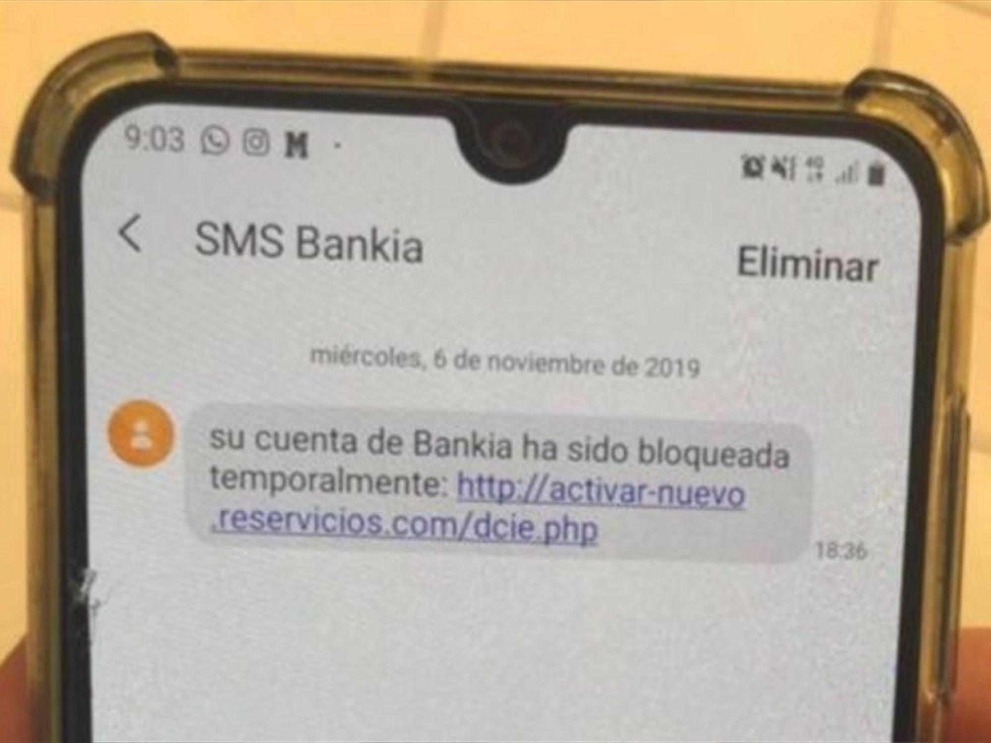 No abras este SMS de Bankia: se trata de una estafa que vacía las cuentas y roba tus datos