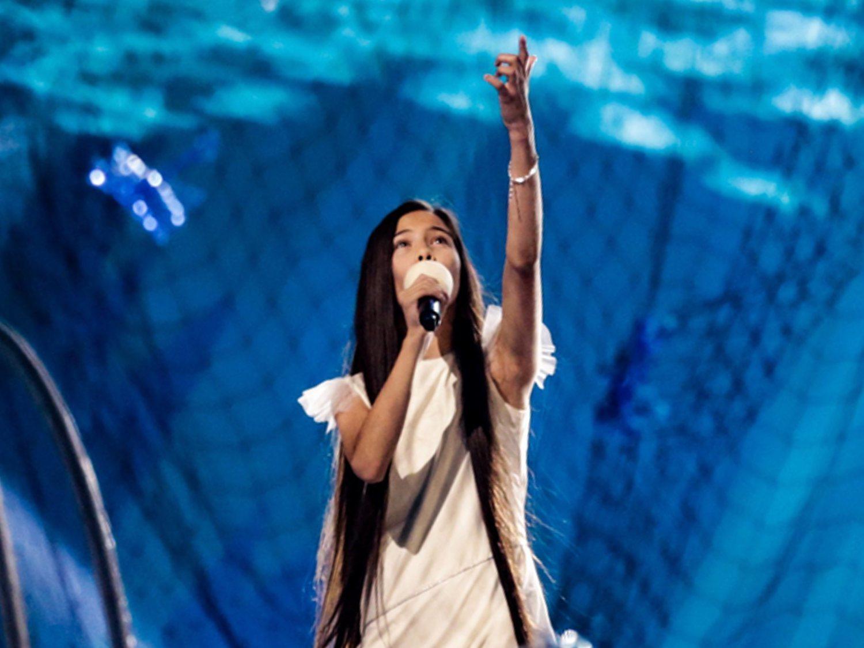 Así ha sido el primer ensayo de Melani García sobre el escenario de Eurovisión Junior 2019