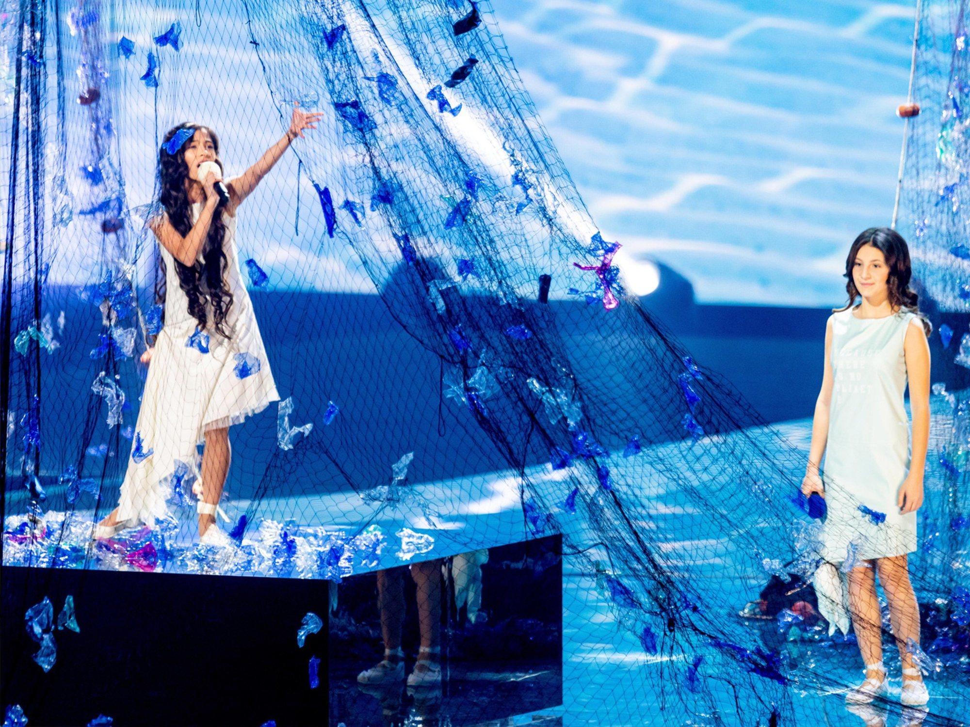 Melani y su 'Marte' saca sobresaliente en los ensayos generales de Eurovisión Junior 2019