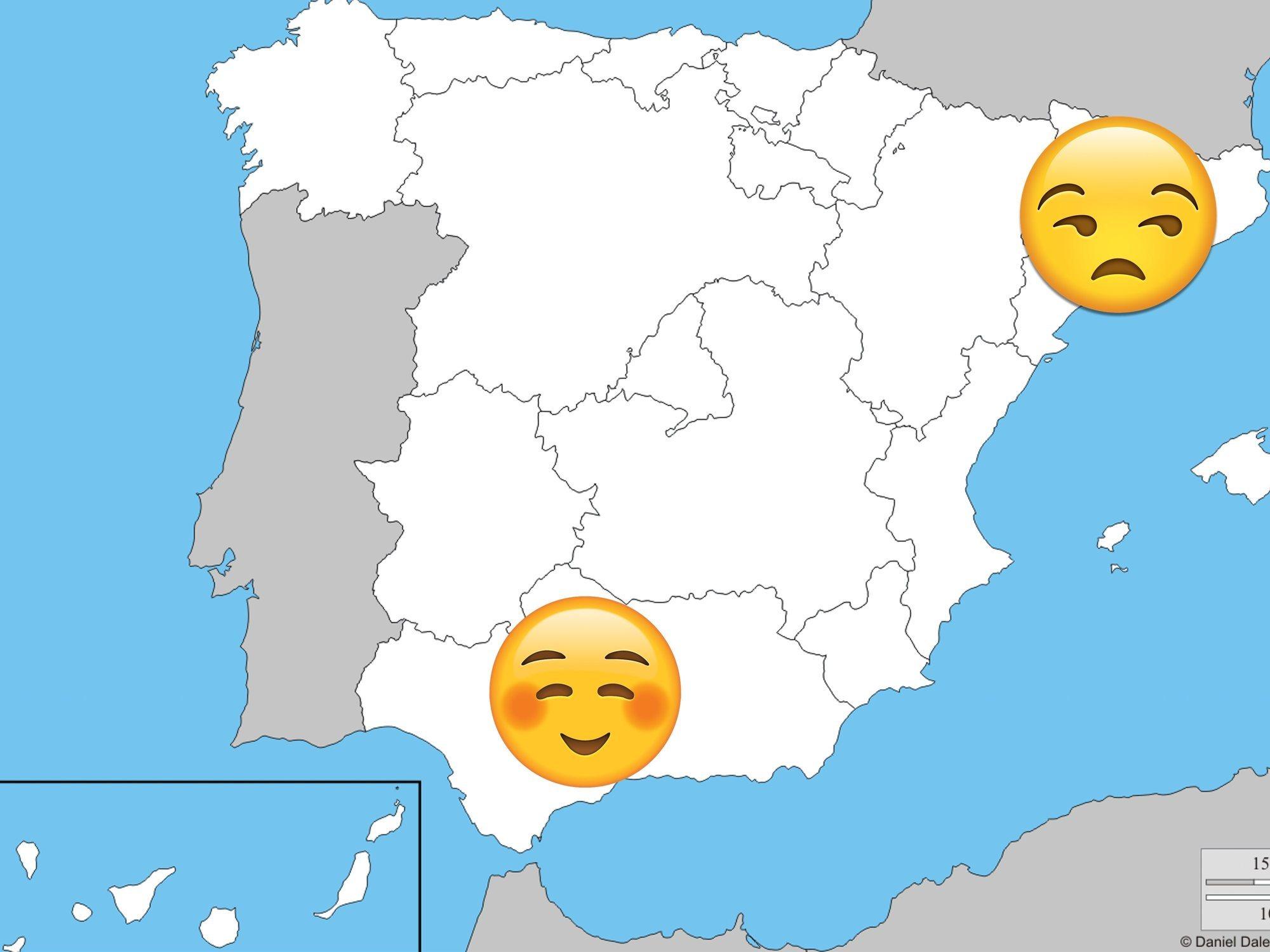 Los catalanes son los españoles que peor caen y los andaluces, los que mejor