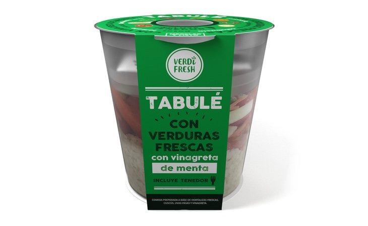 Tabulé con verduras fresas y vinagreta de menta