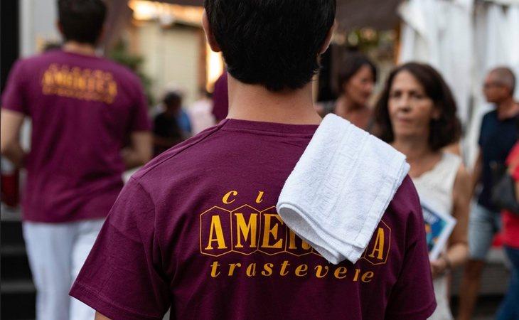 Detalle de la camiseta por la que fueron atacados los jóvenes en Roma