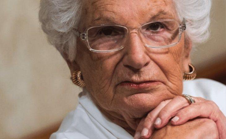 Liliana Segre, senadora italiana superviviente del Holocausto