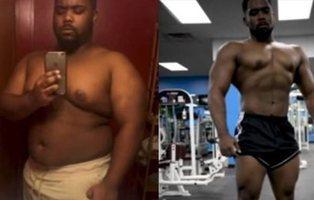 De sufrir obesidad y riesgo de diabetes, pasó a ser todo un modelo con este ejercicio